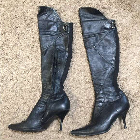 classic styles new products big discount Shoes | Black Leather Boots Medium Heel Size 9 | Poshmark